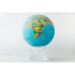 Blue Political Map World Globe
